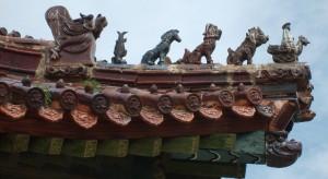 Detail výzdoby střechy kláštera Amarbayasgalant, 2007.