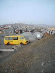 Jurtoviště v Ulaanbaataru