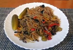 Mongolské nudle chuurag