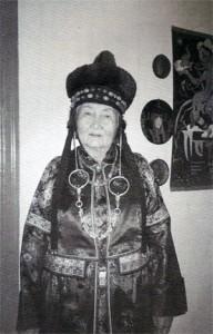 Mongolský ženský oděv.