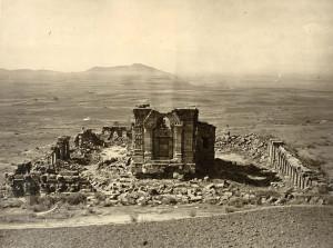 Rujny chrámu Marttand v Bhavanu