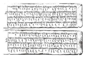 Tibeto - mongolský text.