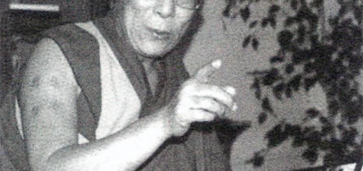 Dalajlama Tändzin Gjamccho v Lánech, září 1997 (Foto Josef Vaniš).