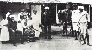 Typická indická rodina v Jižní Africe (konec19.stol.)