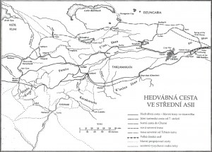 Mapa hedvábné stezky
