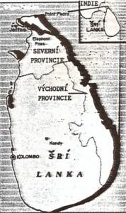 Mapa Šrí Lanky.