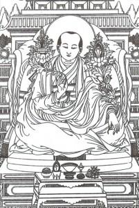 """Sangye Gyamtso, autor ilustrací ke spisu """"Modrý beryl""""."""