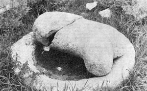 Falický monolit v areálu Erdenedzú.