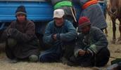 Čekání na dostihy, sever Mongolska.