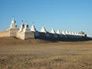 Zeď kolem kláštera Erdene Zuu.