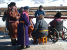 Velbloudí závody v Ulaanbaataru.