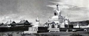 Stůpa v mongolském klášteře Erdene Zuu