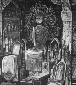 Buddha Maitréja v klášteře Ghúm