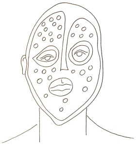 Iniciační maska ndaka, Kongo